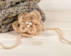 Baby headband handmade crochet suitable for a photo by ittooktwo