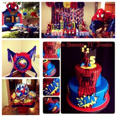 Mcast Peach P's Birthday / Spiderman - Photo Gallery at Catch My Party Spiderman Theme, Spiderman Kids, Superhero Birthday Cake, Superhero Party, Boy Birthday, Birthday Event Ideas, 4th Birthday Parties, Party Ideas, Man Party