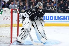 LOS ANGELES, CA - MARCH 23: Ben Bishop #31 of the Los Angeles Kings defends the goal during a game against the Winnipeg Jets at STAPLES Center on March 23, 2017 in Los Angeles, California. (Photo by Andrew D. Bernstein/NHLI via Getty Images)