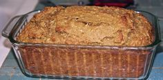Gluten free pumpkin banana bread with coconut butter and coconut shavings