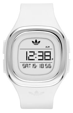 55f294a98364 adidas Originals Denver Digital Silicone Strap Watch