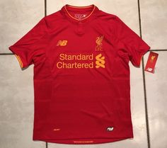 NWT NEW BALANCE Liverpool F.C. 2016/2017 Home Jersey  Youth Large  | eBay