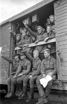 Leaving for the frontline. 1941.