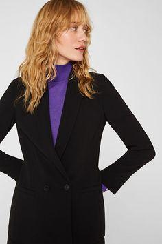 Esprit - TECHNO TWILL Mix + Match Stretch-Blazer im Online Shop kaufen Techno, Im Online, Business Look, Blazer, Models, Mix Match, Stretches, Feminine, Jackets