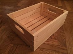 I make things out of wood and leather. Using hand tools and fine wood from friends and family's gardens, hardwood left over from my fathers workshop. Leather sewn by hand of natural leather from Malung Sweden. For questions and requests send a message! Wood Crate Diy, Wooden Crate Boxes, Small Wooden Boxes, Pallet Boxes, Wood Crates, Wood Boxes, Wood Pallets, Crate Storage, Vinyl Storage