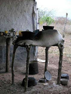 Outdoor kitchen - Fogón en alto; Olancho, Honduras