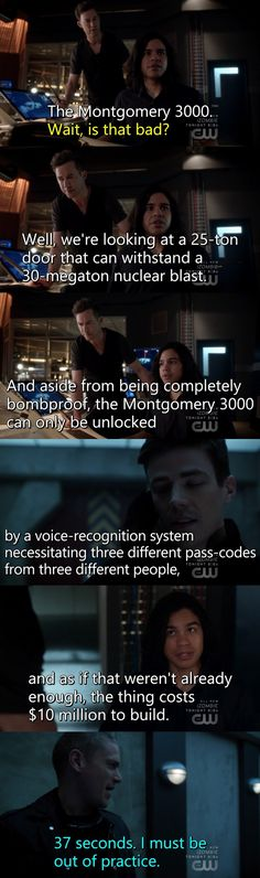"#TheFlash 3x22 ""Infantino Street"" - Barry, Cisco, H.R. and Snart"