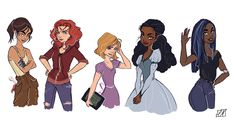 LC girls.  I actually like this portrayal of them. (It's rare for me to say that. ) Whoever the artist is,  I applaud them.