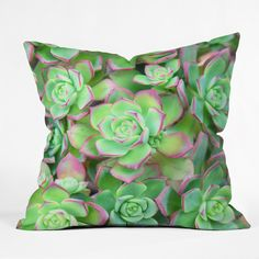 Lisa Argyropoulos Succulents Color Throw Pillow | DENY Designs Home Accessories