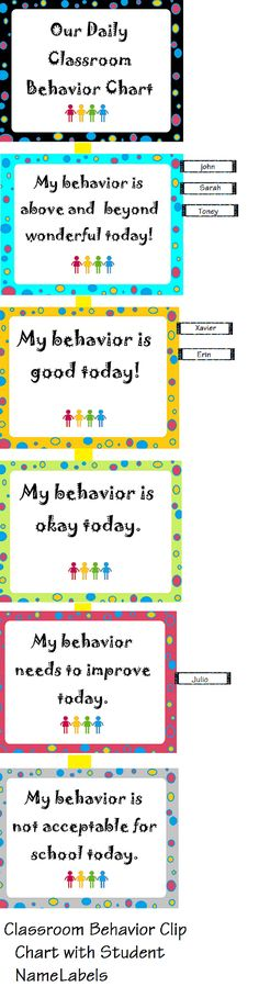 behavior clip chart with name labels