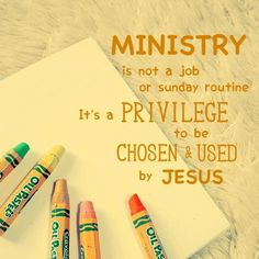 Amen! I think that we sometimes (or often) avoid ministry or don't seek God's calling because we think of it as more work. But it is an incredible honor to be chosen and used by Jesus. Ministry Quotes, Ministry Ideas, Ministry Leadership, Kids Ministry, Music Ministry, Church Ministry, Sunday Routine, Sunday Church Quotes, Pastor Appreciation Quotes