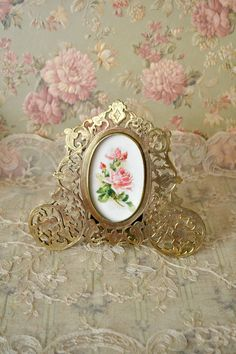 stunning antique ornate brass picture frame