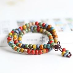 Buddhist bless #ceramics bead bracelet #necklace mantra #meditation prayer exorci,  View more on the LINK: http://www.zeppy.io/product/gb/2/351839922950/