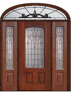 Exterior Door With Two Sidelites And Elliptical Transom Prehung Sidelights Transom  Door 80 Fiberglass Palacio