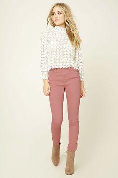 Forever 21 Skinny Jeans 'Mauve'-16