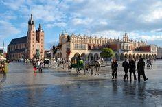 Krakowski Rynek Miejski, jeden z największych, a na pewno najpiękniejszy rynek miejski w Europie