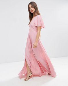 Image 4 ofASOS Pretty Maxi Dress with Ruffle Sleeve