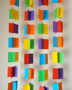 Square Paper Party Garland  bright colours of the by julialau, $18.00