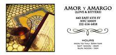 Amor y Amargo   NYC