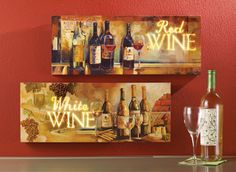 lighted tuscan wine wall art - Wine Themed Kitchen Ideas