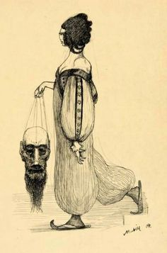 Alfred Kubin. Judith with the head of Holofernes. 1904.