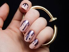 Check these metallic drip nails now!