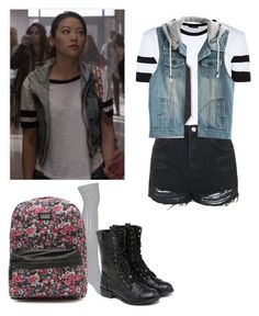 """Kira yukimura - teen wolf"" by shadyannon ❤ liked on Polyvore featuring Topshop, yeswalker and Vans"