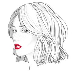 Kai Fine Art is an art website, shows painting and illustration works all over the world. Art Drawings Beautiful, Amazing Drawings, Marilyn Monroe Painting, Cardboard Sculpture, Art Watercolor, Face Sketch, Beauty Illustration, Outline Drawings, Fashion Design Sketches