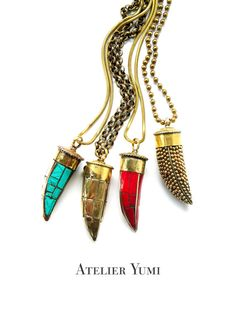 Bohemian Horn Necklaces, this would make every outfit complete!