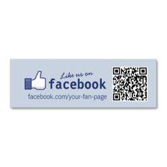 QR Code Facebook Like mini Business Card
