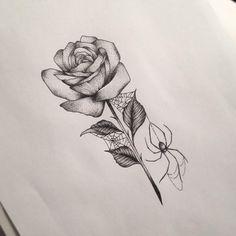 Spider Rose Tattoo by Medusa Lou Tattoo Artist - medusaloux@outlook.com
