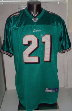 f145d5d3c60 Miami Dolphins NFL OnField Jersey Reebok  21 Will Davis Size 54 Teal   Reebok