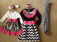 Custom made big sister and little sister dresses by mypurseonals, $108.00