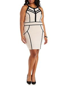 Plus Size Cut-Out Sleeveless Bodycon Dress: Charlotte Russe
