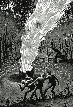 Ilustración de Virgil Finlay 08
