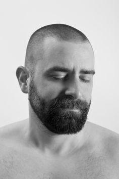 men in black and white