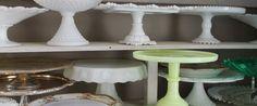 cake stands - vintage rental (Macon, GA)