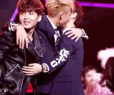 Tao & Luhan...meanwhile Wookie trying to escape Tao's grip...XD