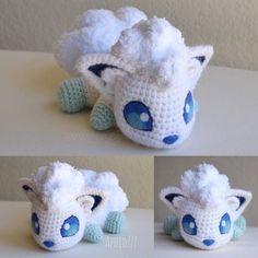 Alolan Vulpix by on DeviantArt Pokemon Crochet Pattern, Crotchet Patterns, Crochet Patterns Amigurumi, Crochet Dolls, Cute Crochet, Crochet Crafts, Yarn Crafts, Crochet Projects, Sewing Crafts