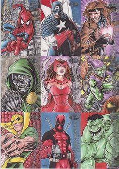 Sketch cards I did for the Marvel Premiere set from Upper Deck