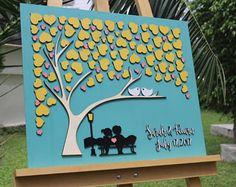 3d wedding guest book wedding guest book alternative guest book ideas gary and blush pink custom guest book tree guest