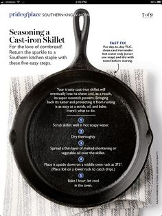 An outdoor camping dish can be as simple or as made complex as you desire as there's no factor to fear outdoor camping cooking is part of Cast iron skillet cooking - Cast Iron Skillet Cooking, Iron Skillet Recipes, Cast Iron Recipes, Season Cast Iron Skillet, Cooking With Cast Iron, Do It Yourself Videos, Do It Yourself Food, Household Cleaning Tips, Diy Cleaning Products