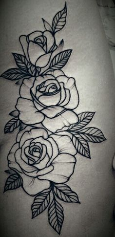 Ideas Embroidery Rose Tattoo For 2019 Stencils Tatuagem, Tattoo Stencils, Rose Embroidery, Embroidery Patterns, Indian Embroidery Designs, Blackwork Embroidery, Creative Embroidery, Trendy Tattoos, Tattoos For Women