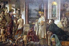 Картинки по запросу древние греки за столом
