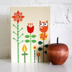 Wise red owl notebook