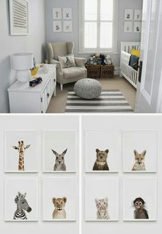 Baby nursery inspo woodland animal prints