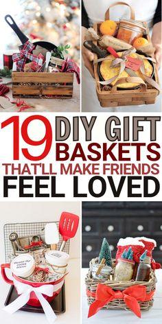 Diy Gifts For Christmas, Christmas Gift Baskets, Diy Crafts For Gifts, Easy Gifts, Friends Christmas Gifts, Thoughtful Christmas Gifts, Santa Gifts, Christmas Christmas, Handmade Christmas