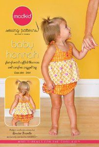 Mod kid sewing pattern.  Boutique baby clothes #sewing #pattern #toddler