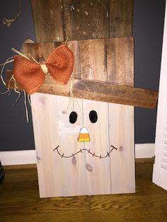 DIY reversible scarecrow and snowman