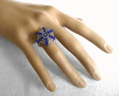 Beaded Cocktail Ring by Beadwork & Coe